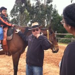 Andres Villa, from TAAC foundation talks with Sofia Santana about equine therapy
