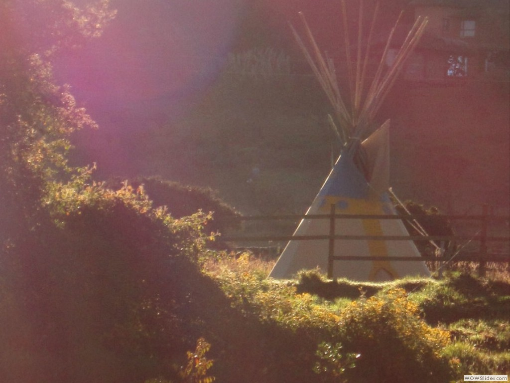 Tipi at Sunrise